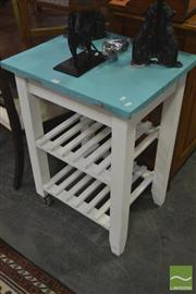 Sale 8284 - Lot 1087 - Painted Kitchen Island