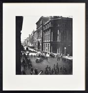 Sale 8296A - Lot 35 - Max Dupain (1911 - 1992) - George Street, Looking North from Martin Place, 1930 37 x 36cm