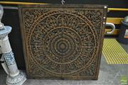 Sale 8361 - Lot 1002 - Timber Fret Work Decorative Panel