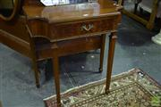 Sale 8550 - Lot 1204 - Veneered Hall Table with Single Drawer