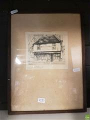 Sale 8563T - Lot 2115 - Edward J Cherry Framed Etching