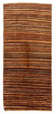 Sale 8790C - Lot 158 - An Afghan Stripe Chobi Natural Dyes 100% Wool Pile, 186 x 83cm