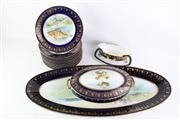 Sale 8823 - Lot 16 - An Austrian Part Dinner Service ( Some cracks and chips to plates)