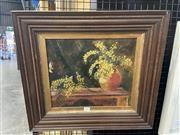 Sale 8995 - Lot 2002 - Artist Unknown Still Life with Flowers, oil on canvas (AF), frame: 48 x 53 x