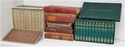 Sale 9108H - Lot 31 - A boxed set of 13 volumes of W. Shakespeare together with 10 volumes of Jane Austen novels and other vintage reads.