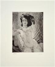 Sale 8068A - Lot 63 - Norman Lindsay (1879 - 1969) - Rita 15 x 11cm