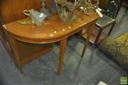 Sale 8331 - Lot 1528 - Marquetry Demi Lune Hall Table