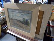 Sale 8429A - Lot 2084 - Artist Unknown (2 works) - Country Scenes, watercolour, each 29 x 45cm, each signed lower