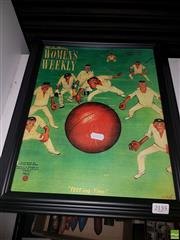 Sale 8563T - Lot 2155 - 1954 Weekly Cricket Print