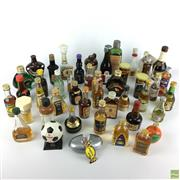 Sale 8589R - Lot 49 - Selection of Miniature Vintage Collectible Alcohol from Around the World