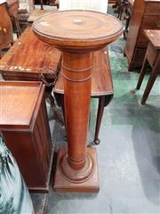 Sale 8814 - Lot 1040 - Early 20th Century Maple Pedestal, with turned shaft & top (H: 119.5 D: 33cm)