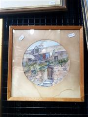 Sale 9061 - Lot 2035 - LJ Button, Old Sydney, watercolour, 29 x 29 cm, signed lower right