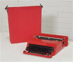 Sale 9151 - Lot 1084 - Vintage valentine typewriter by Olivetti