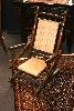 Sale 7523 - Lot 1432 - Turned Dexter Rocker with Striped Upholstery