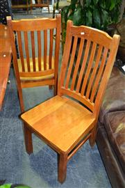 Sale 8156 - Lot 1029 - Four Timber Dining Chairs