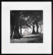 Sale 8296A - Lot 36 - Max Dupain (1911 - 1992) - Elementary Hill, Looking North to the Sydney Harbour Bridge 35.5 x 35.5cm