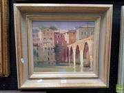 Sale 8478 - Lot 2011 - Maxwell Wilks, Across the River to Albi, France, Oil, SLL, 26x30.5cm