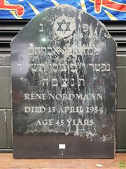 Sale 8585 - Lot 1030 - Black Granite Headstone