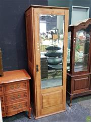Sale 8629 - Lot 1009 - Single Mirrored Door Fitted Tall Boy