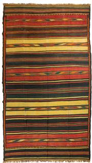 Sale 8780C - Lot 201 - A Hand-Woven Kilim Wool And Natural Material Jute, 430 x 310cm