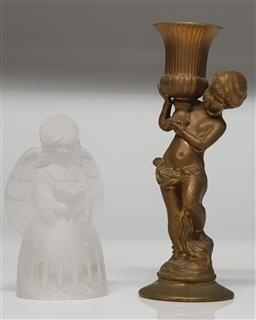 Sale 9254 - Lot 2262 - Mikasa Angel Candle Holder Together with a Gilt Figural Example