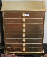 Sale 7950 - Lot 93 - A Gold Painted Miniature Chest of Drawers