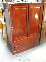 Sale 7974A - Lot 1086 - Two Door Timber Cabinet Above Two Drawers
