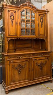 Sale 8287A - Lot 53 - An exceptionally Fine 19th Century French Louis XVI credenza with impressive carved detail & foliage, Georgian themed bevelled glass...
