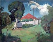 Sale 8297A - Lot 3 - George Duncan (1904 - 1974) - The Gardeners Cottage, c1933 40 x 49.5cm