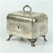 Sale 8412A - Lot 21 - Hungarian Silver Lidded Container width - 14cm