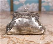 Sale 8474A - Lot 56 - A fun vintage silver Glomesh coin purse lovely design, condition is very good lining is good mesh is intact, size: 13cm wide x 8cm h...