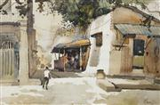 Sale 8526 - Lot 563 - Kim Seng Ong (1949 - ) - Side Lane, 1977 39 x 54.5cm