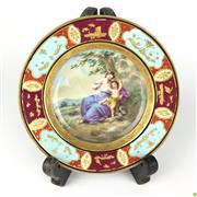 Sale 8562R - Lot 261 - Meissen Cabinet Plate depicting Mother and Child (D: 12cm)
