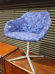 Sale 8705 - Lot 1084 - Knoll Blue Fabric Swivel Chair