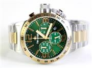 Sale 8937 - Lot 479 - A TW STEEL CHRONOGRAPH WRISTWATCH; ref. CB63 in 2 tone stainless steel with green dial, 3 registers, date, tachymeter bezel, sapphir...
