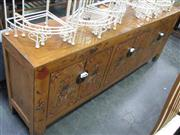 Sale 7933A - Lot 1194 - Golden Chinese 6 Drawer Sideboard