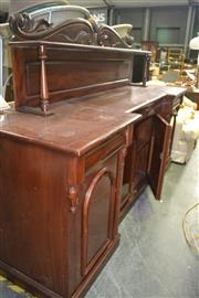 Sale 8093 - Lot 1193 - Mahogany Sideboard with carved Back