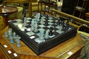 Sale 8093 - Lot 1379 - Chiellini Alabaster Marble Chess Set - Made In Italy