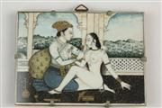 Sale 8441 - Lot 87 - Indian Ivory Painted Miniature
