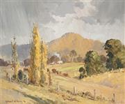 Sale 8467 - Lot 595 - Robert Wilson (1942 - ) - Ochre Farm, 1976 36 x 44cm