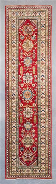 Sale 8499C - Lot 48 - Afghan kazak Runner 300cm x 80cm