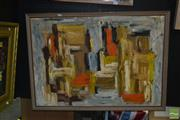 Sale 8522 - Lot 2038 - Oil on Board, Abstract, Signed Paula, 60x90cm