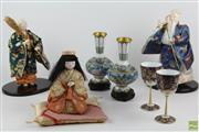 Sale 8546 - Lot 61 - Cloissone Vases Together With Some Figurines