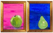 Sale 8644A - Lot 73 - Two works by Kristi - Apple & Pair each frame size 50 x 60cm