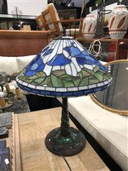 Sale 8697 - Lot 1603 - Pair of Leadlight Shade Table Lamps