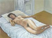 Sale 8781 - Lot 571 - Brian Dunlop (1938 - 2009) - Reclining Nude 56 x 76cm