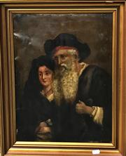 Sale 8794 - Lot 2062 - Artist Unknown - Man & Wife, oil on canvas, unsigned -