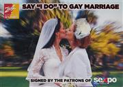 Sale 8822A - Lot 5134 - Say I do To Gay Marriage - 42 x 59.5cm