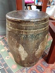 Sale 8843 - Lot 1060 - Hand Painted Drum Stool