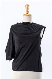 Sale 8891F - Lot 21 - A Vivienne Westwood Anglomania black mercerised cotton sleeveless box top, size small